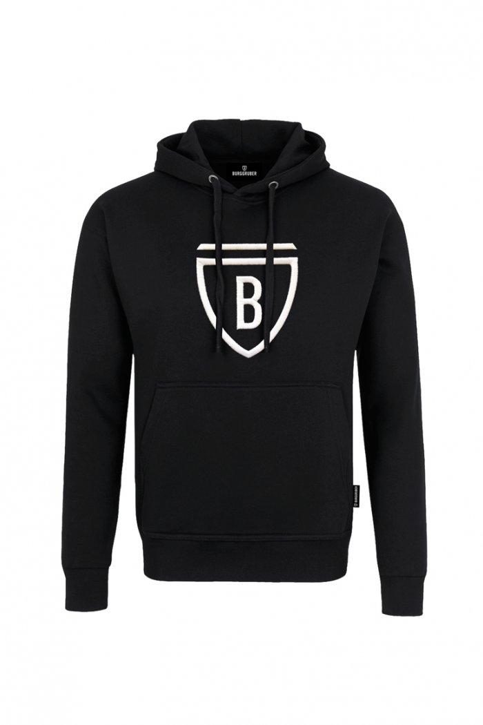 Burggrub Unisex Hoodie schwarz/weiß